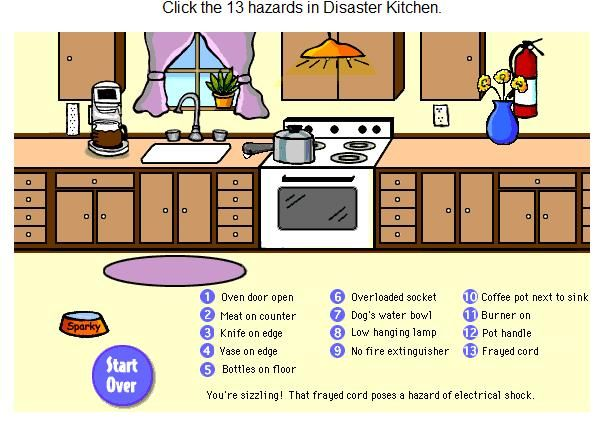 kitchen safety hazards worksheet april pinterest worksheets and math. Black Bedroom Furniture Sets. Home Design Ideas