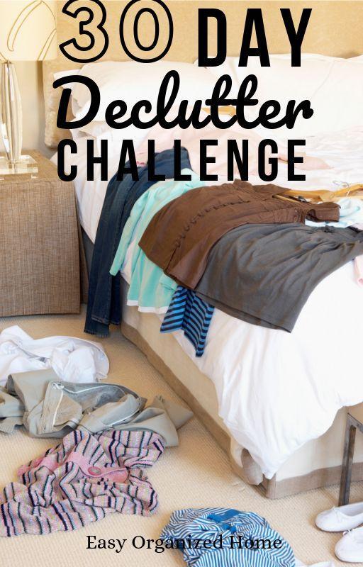 30 day challenge to Declutter Your Home #summerhomeorganization