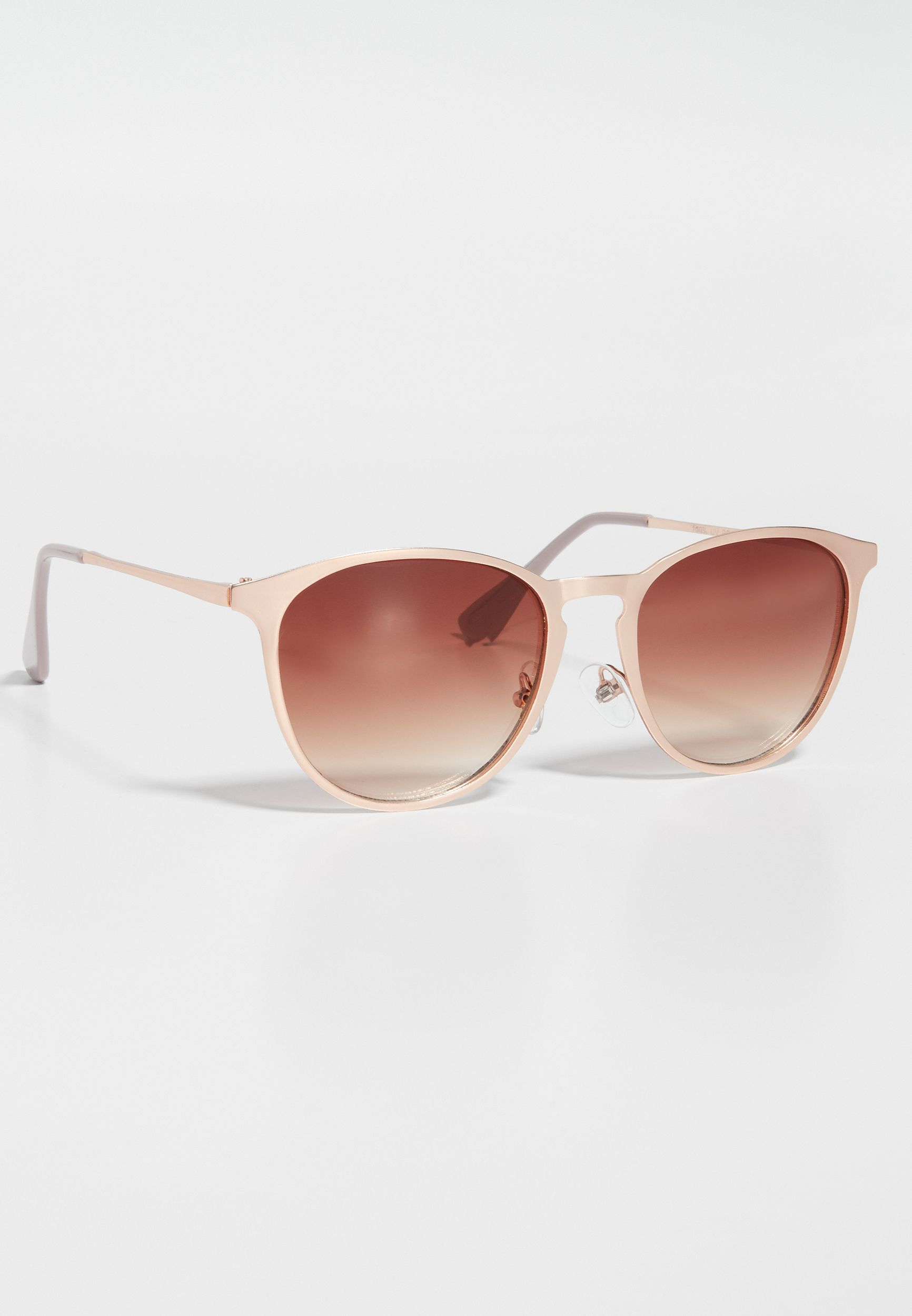57624e5f39d87 rose goldtone slim metal cat eye sunglasses (original price
