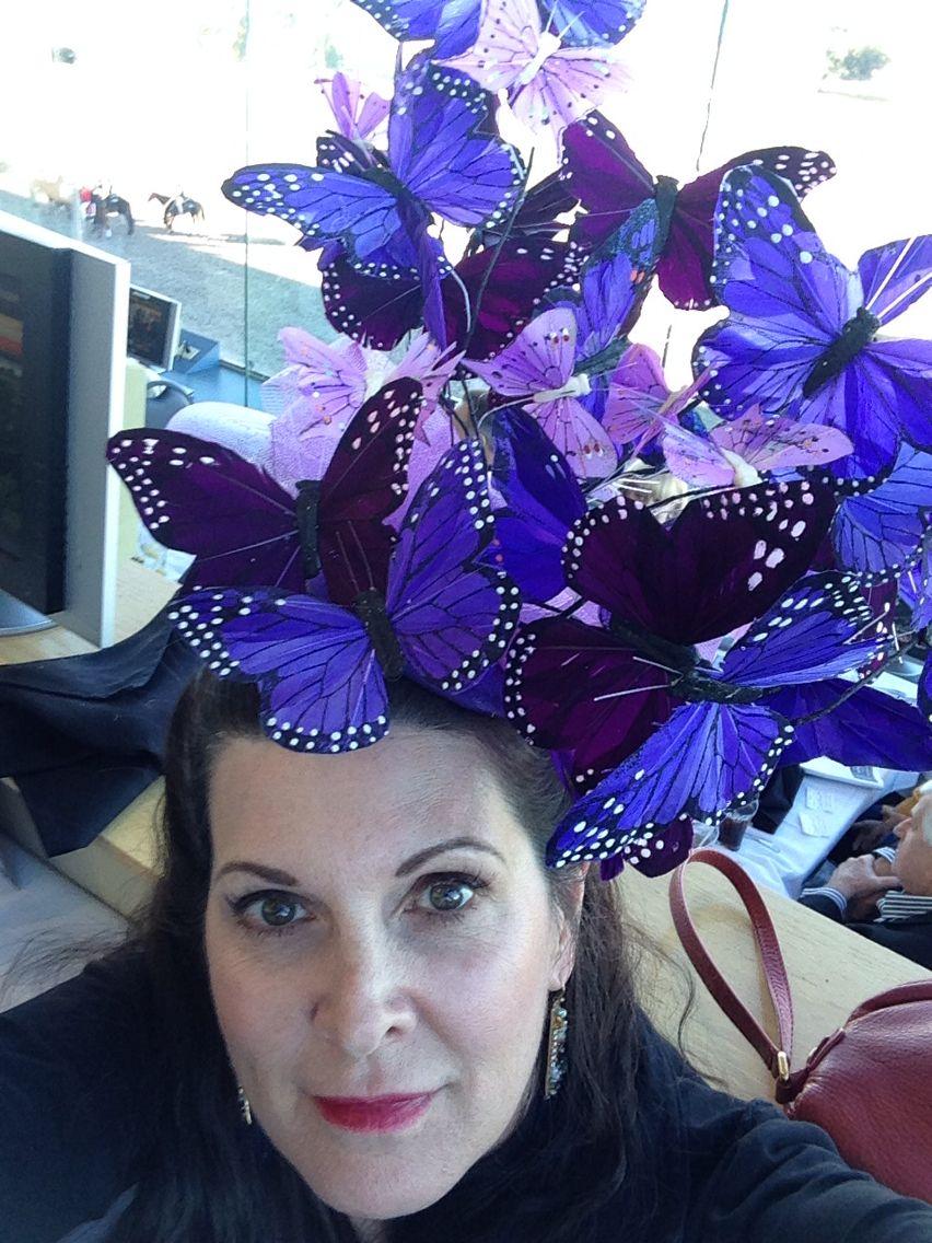 89a65d5c868 kentuckyderby  ascot  hat  diy  derby hat  fascinator  butterflies ...