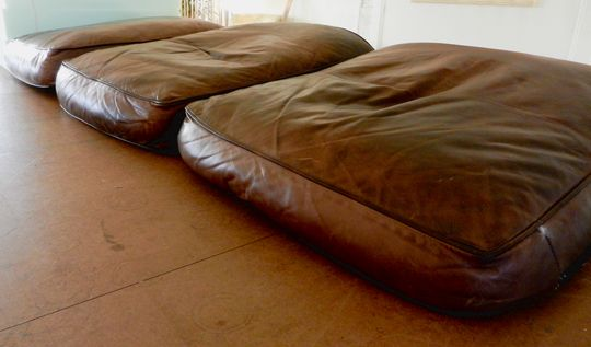 Fix Flattened Down Leather Sofa Cushions