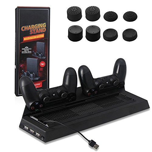 Yttl 2 In 1 Ps4 Ps4 Slim Vertical Stand Cooling Fan Dual Charging