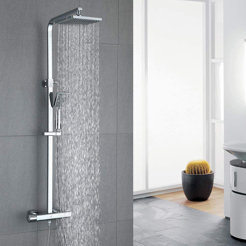 Duschsystem Mit Thermostat Regendusche In 2020 Regendusche Duschsysteme Duscharmatur