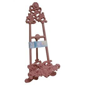 Scrolling metal easel decor in light pink. Product ... on Easel Decorating Ideas  id=57338