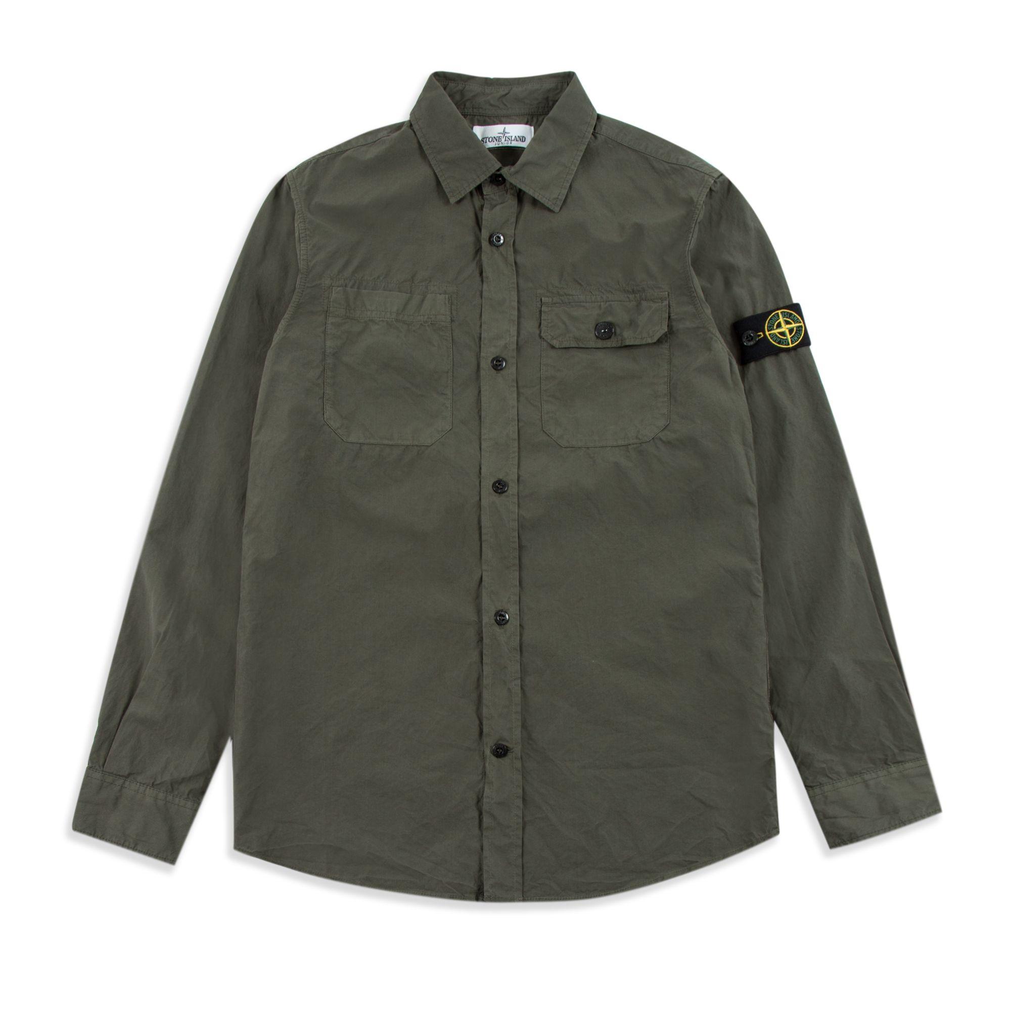 stone island khaki shirt