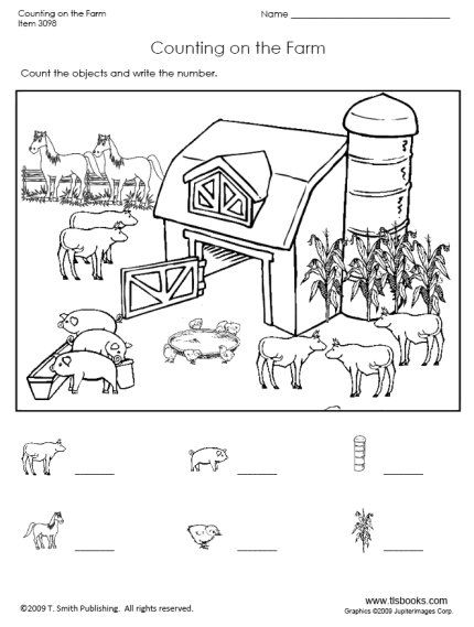 Free Farm Worksheets For Preschool - Google Search Farm Preschool, Farm  Animals Preschool, Farm Animals