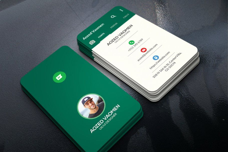 whatsapp business card с изображениями  Дизайн визитной