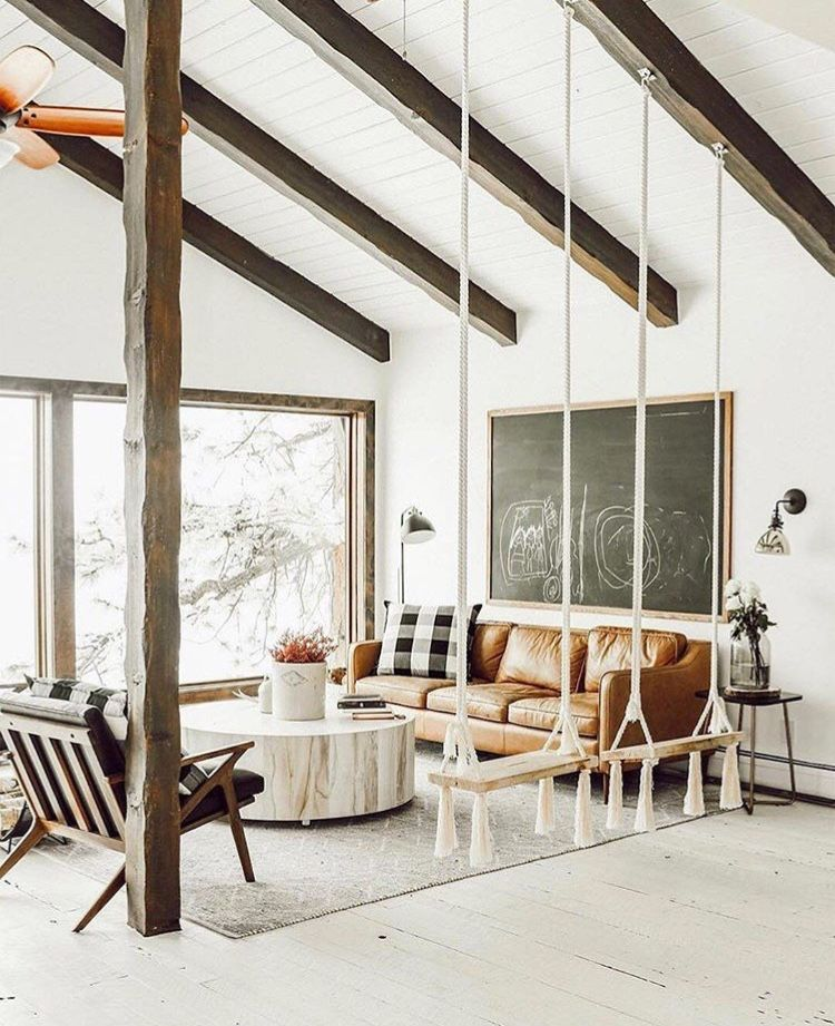 Living Room And Indoor Swing