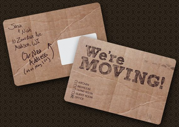 Moving Announcement Set of 25 Cardboard by TheBrassDoor on ...