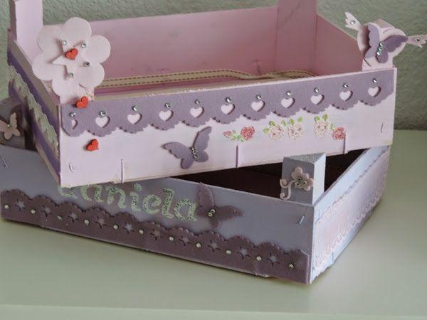 Cajas de fresas renovadas para ordenar tu hogar - Como decorar cajas de madera de fruta ...
