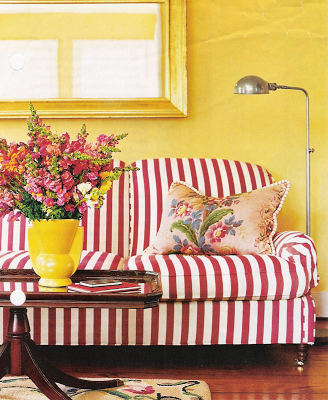 striped sofa | finish | Striped sofa, Striped couch, Yellow outdoor ...