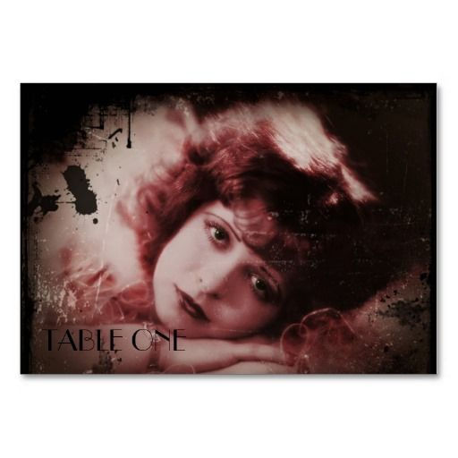 Silent Film Angel Table Cards