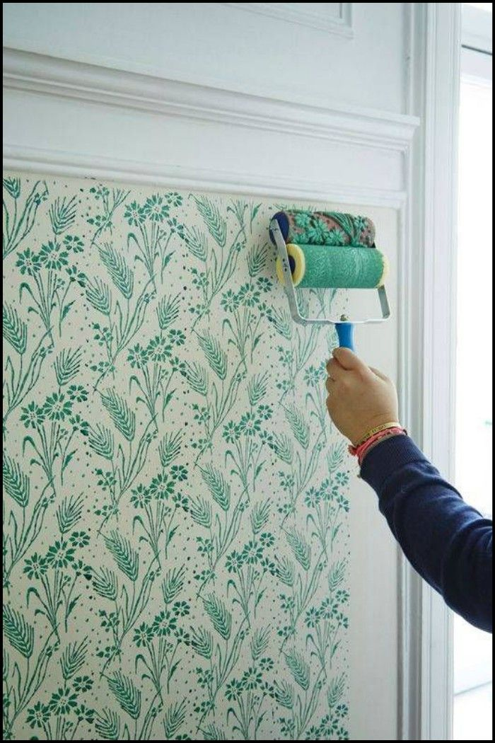 The Beauty Of Wallpaper At The Price Of Ordinary Paint Diy Wall Painting Wall Paint Designs Patterned Paint Rollers