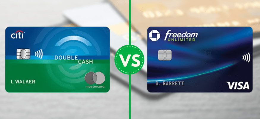 Citi Double Cash Vs Chase Freedom Unlimited Cash Back Credit Card Comparison Chase Freedom Credit Card Cash