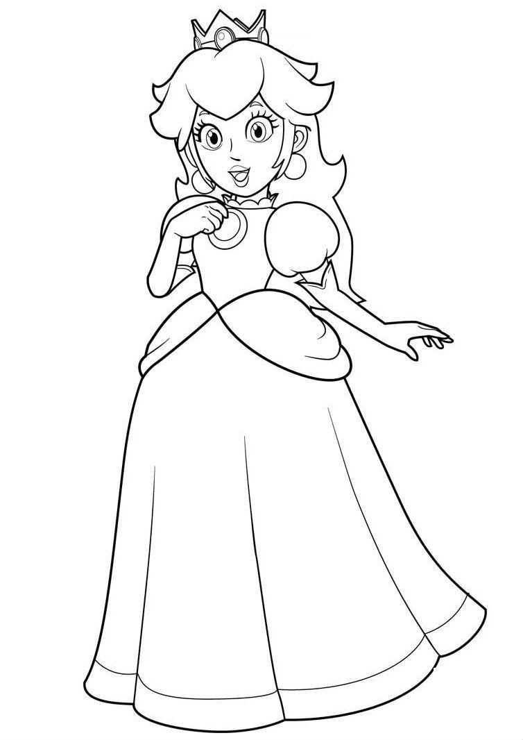 Princess Toadstool Coloring Pages Printable Coloriage A Imprimer Princesse Coloriage Mario Coloriage