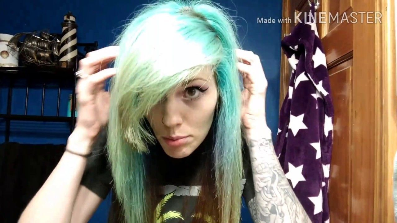 Testing Ion Color Remover On Arctic Fox Aquamarine Hair Styled247