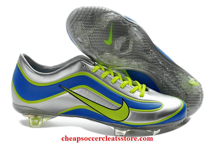 brand new 50353 59fed Nike Mercurial Vapor XV Limited Edition 1998 Mercurial For Cheap Silver  Blue Green Soccer Cleats
