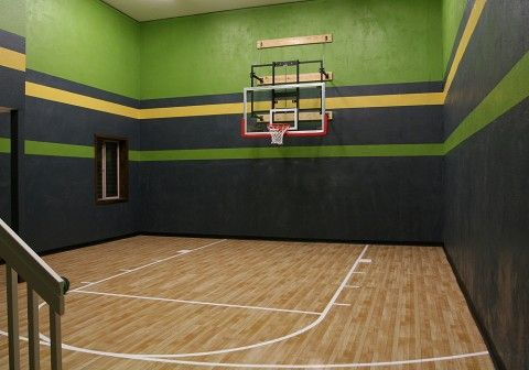 Custom Residence In Pinon Soleil Castle Rock Indoor Sports Court Indoor Basketball Court Home Basketball Court