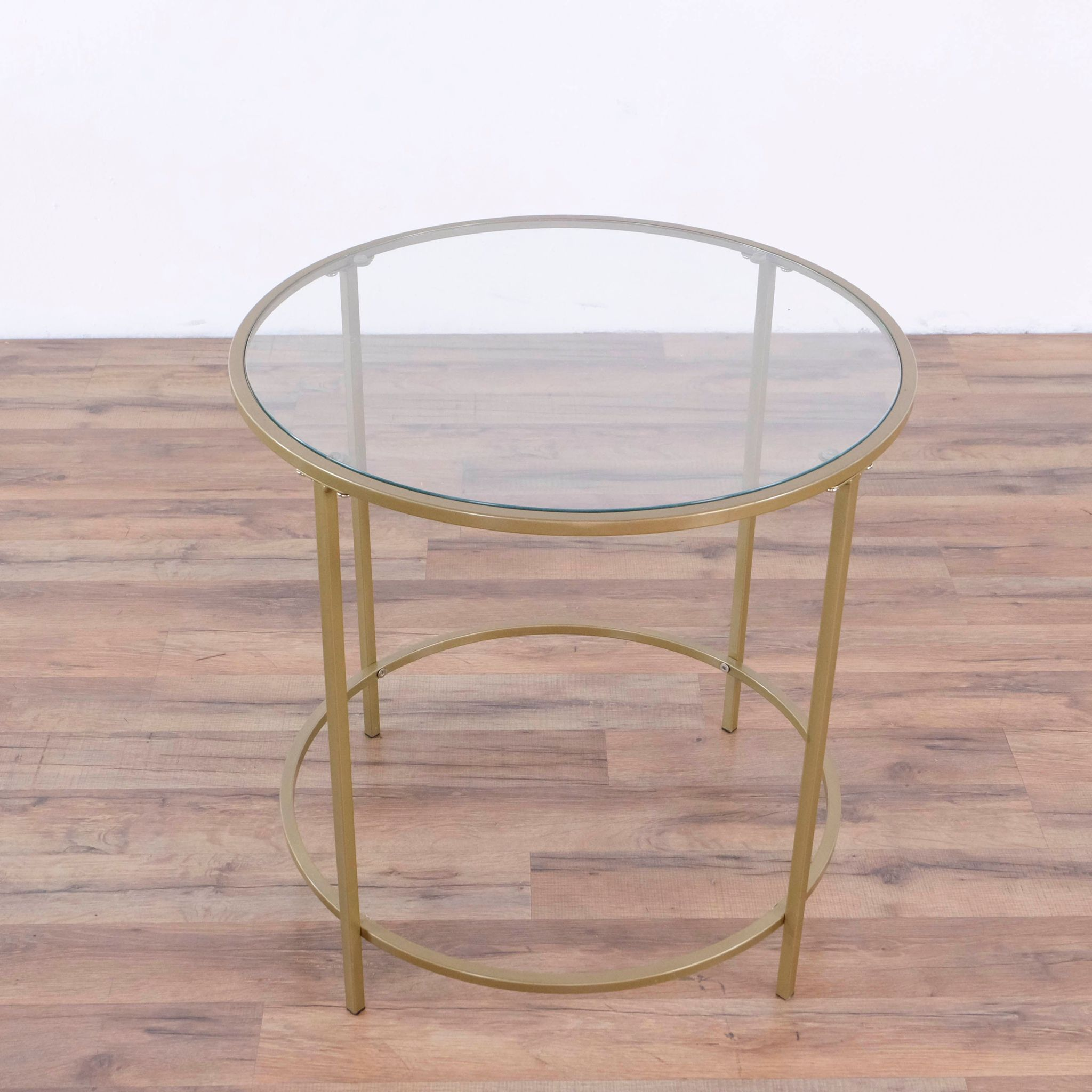 Glass Top Hemingway End Table In Satin Gold Div P Glass Top Metal Frame In Gold Tone P Table Style Width 100 Tbo Table Style End Tables Coffee Table [ 2048 x 2048 Pixel ]