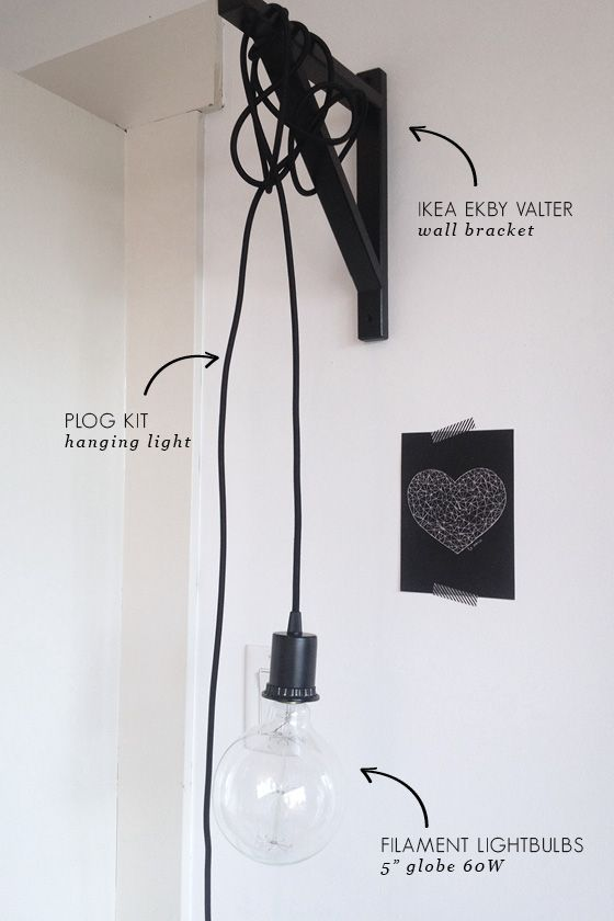 JUST HANGING AROUND... WALL LIGHT DIY | Industrial chic ...