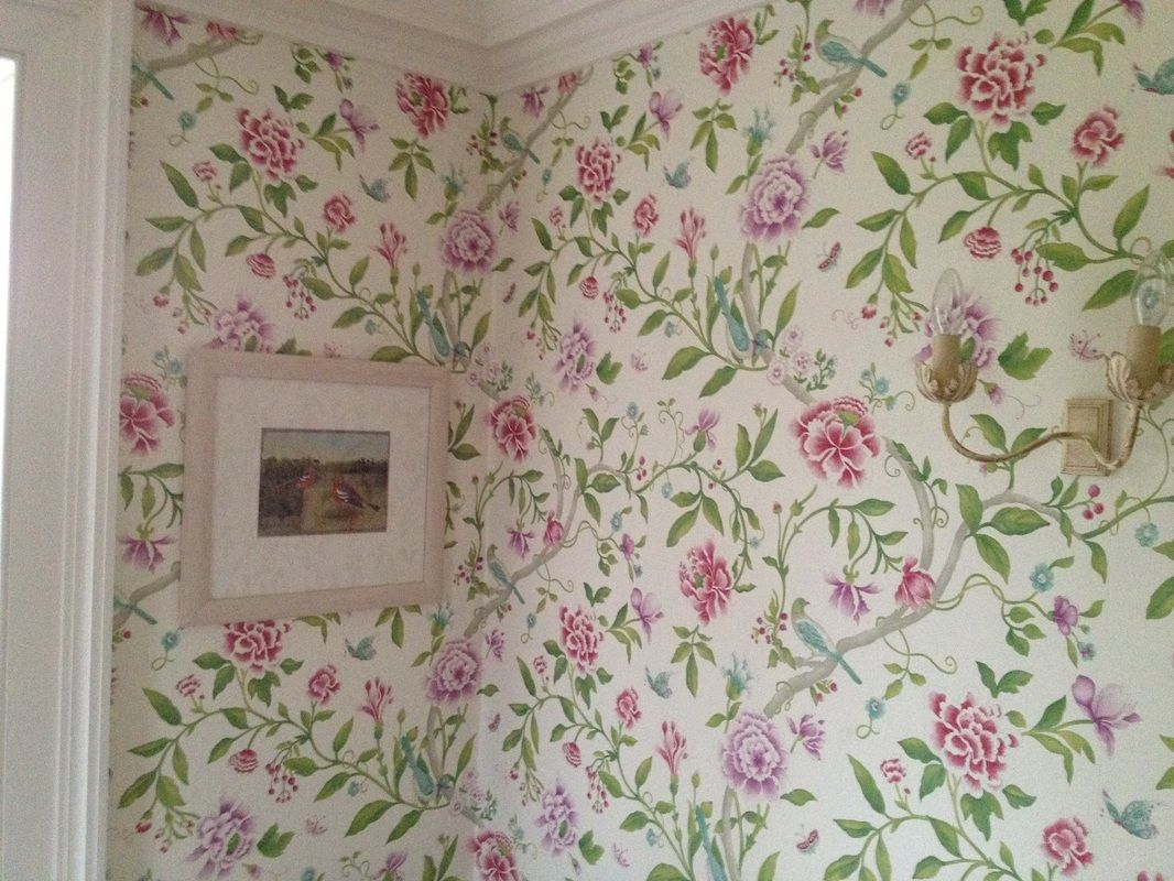 Country Floral Shabby Chic Wallpaper David Green Decorating