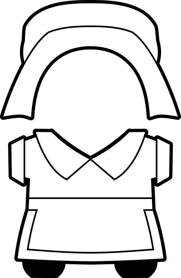 colonial hat template - printable thanksgiving pilgrim buddies paper dolls b w