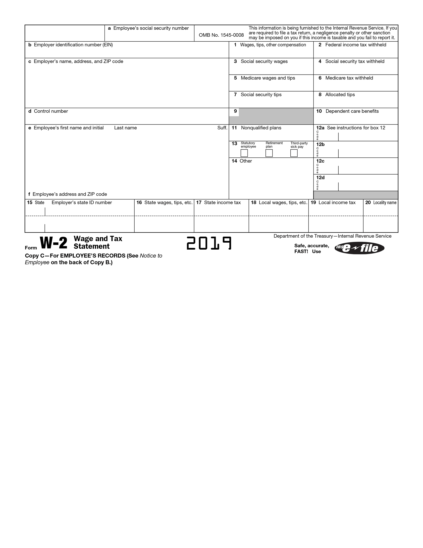 Fillabletaxforms Create A Free W2 Form In