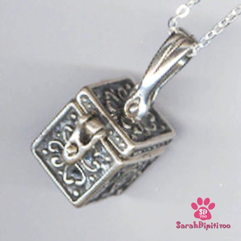 Prayer Wish Box Locket Necklace for Girls Sterling Silver Prayer