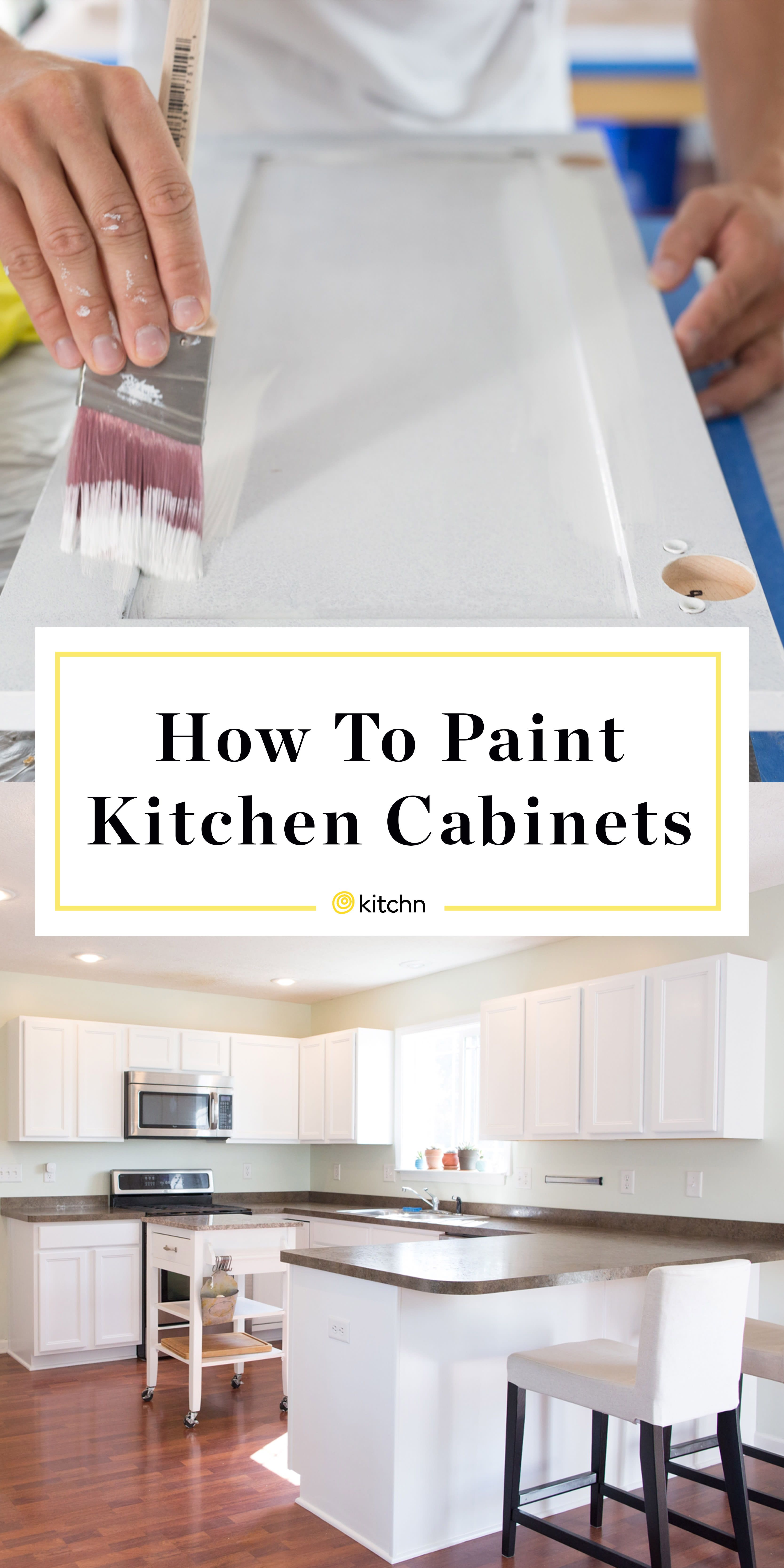 How To Paint Your Kitchen Cabinets So It Looks Like You Totally Replaced Them Painting Kitchen Cabinets White Painting Kitchen Cabinets Diy Kitchen Cabinets