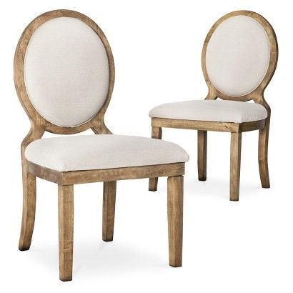 Kinfine Morris Oval Back Dining Chair Toast   Set Of 2