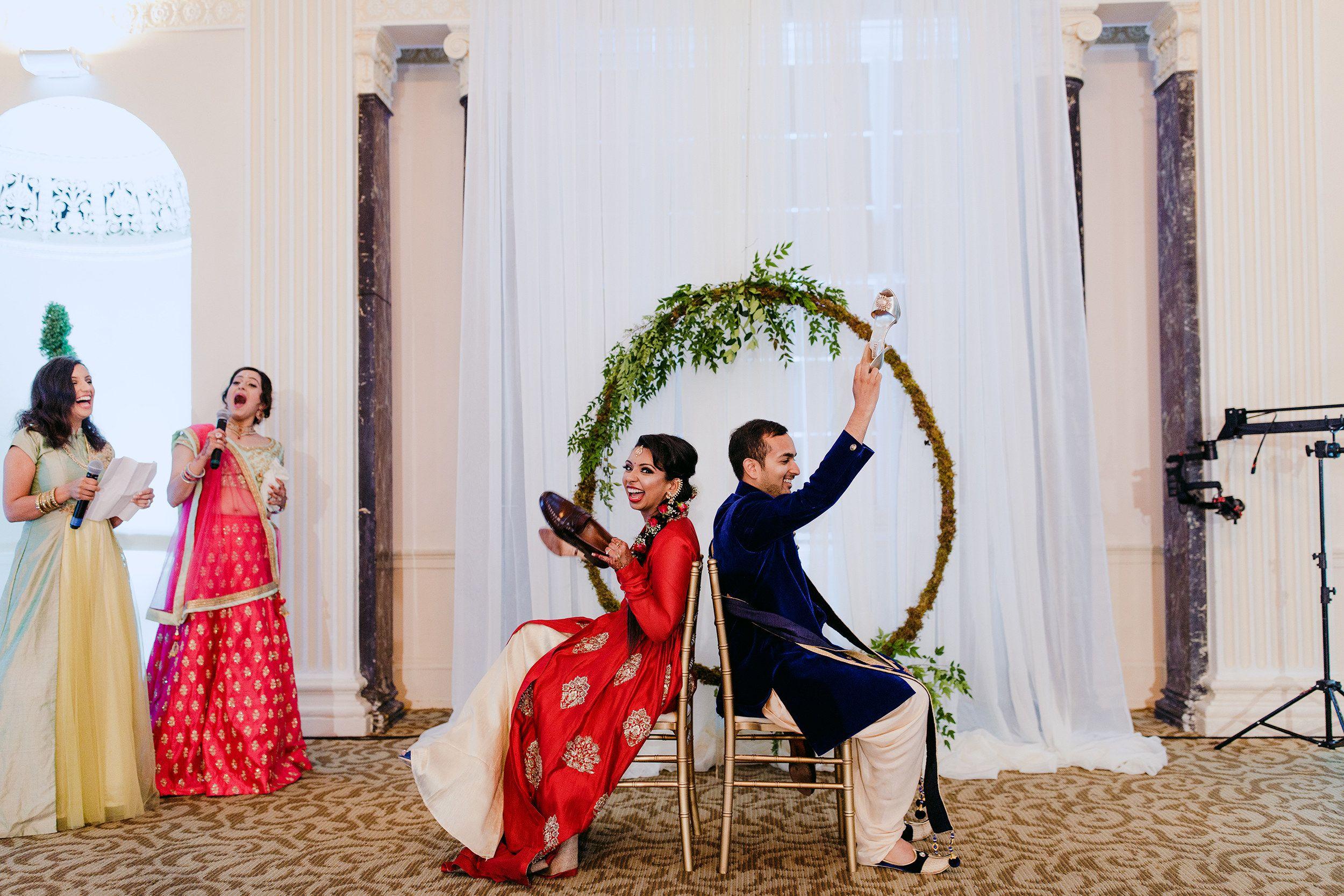 Shoe Game With A Greenery Circle Wedding Backdrop Atlanta