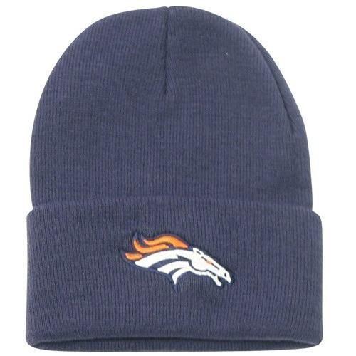 7d7fca57 Denver Broncos Navy Cuffed NFL Classic Knit Cap Beanie Hat ...