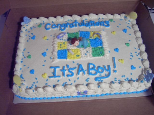 Boy Baby Shower Sheet Cake This Is A Common Shower Cake That I Make.