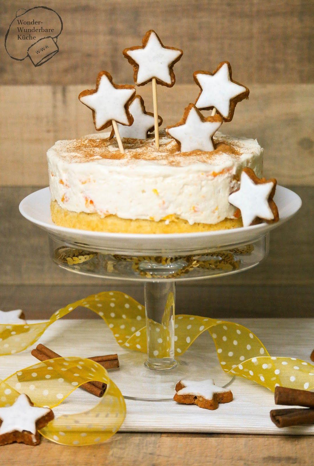 Kleine Kuchen und Torten kleine Mascarpone Torte mit Zimt