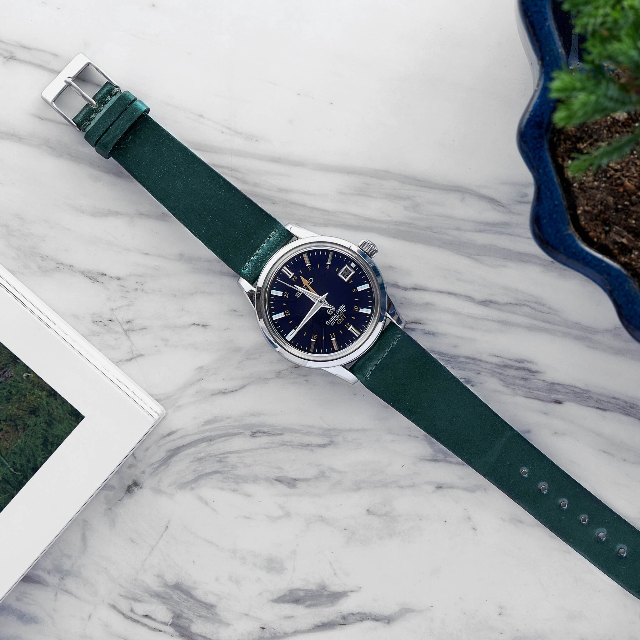 Unlined Green Shell Cordovan Watch Strap