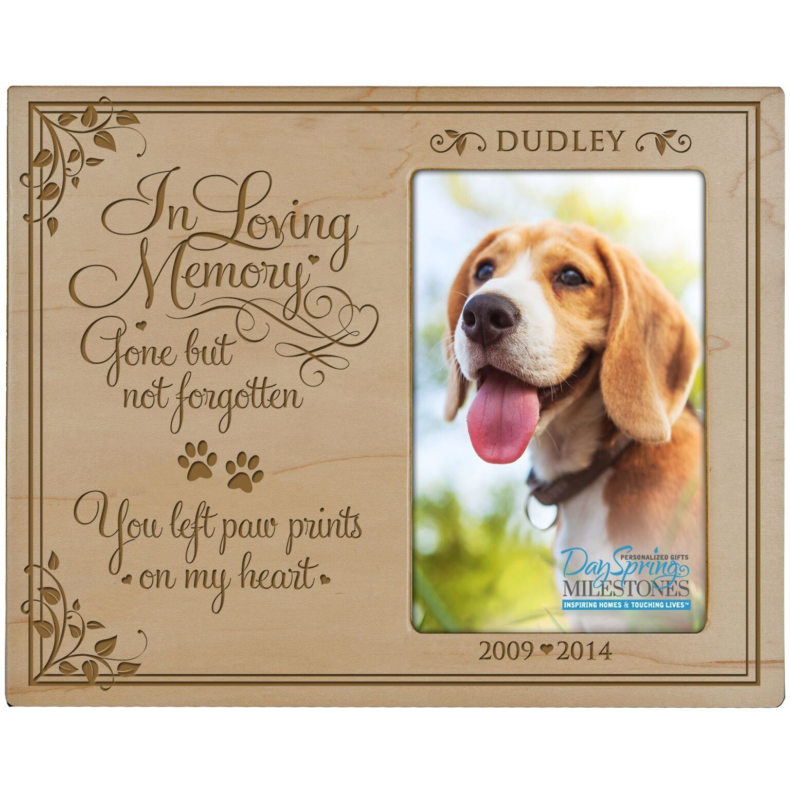 LifeSong Milestones Personalized Pet Memorial Sympathy Photo Frame ...