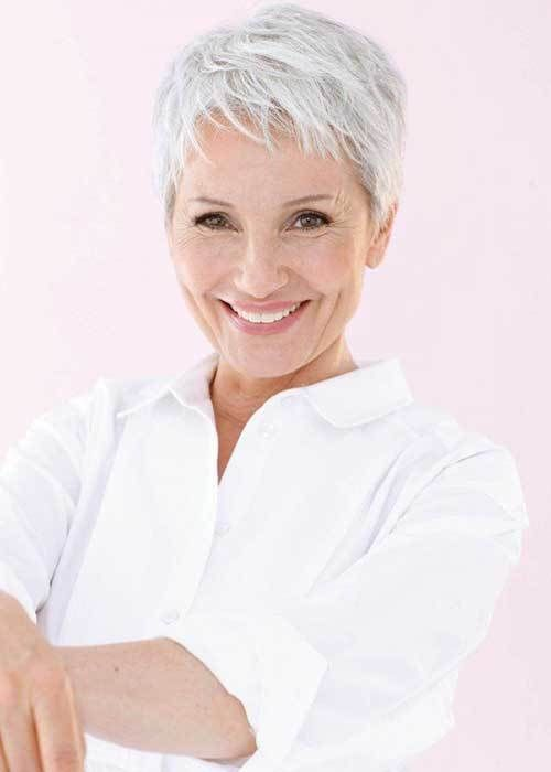 Cool Pixie Haircut for Older Ladies