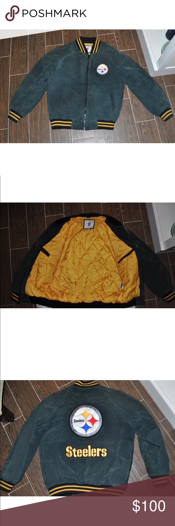 Pittsburgh Steelers leather jacket Jackets, Leather