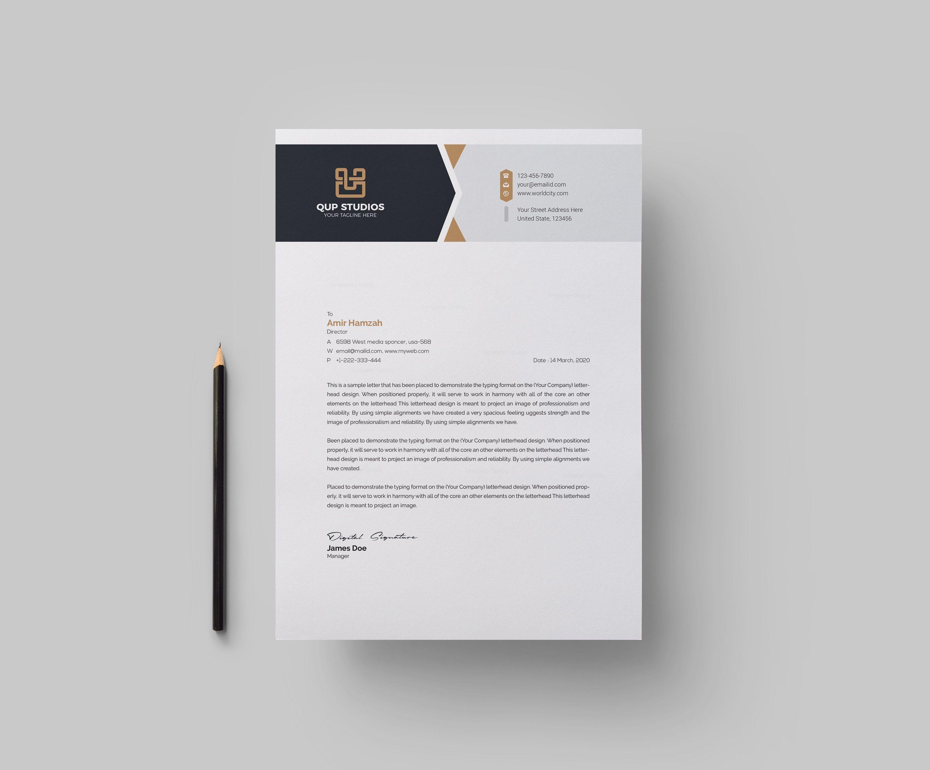 studio professional corporate letterhead template 001831