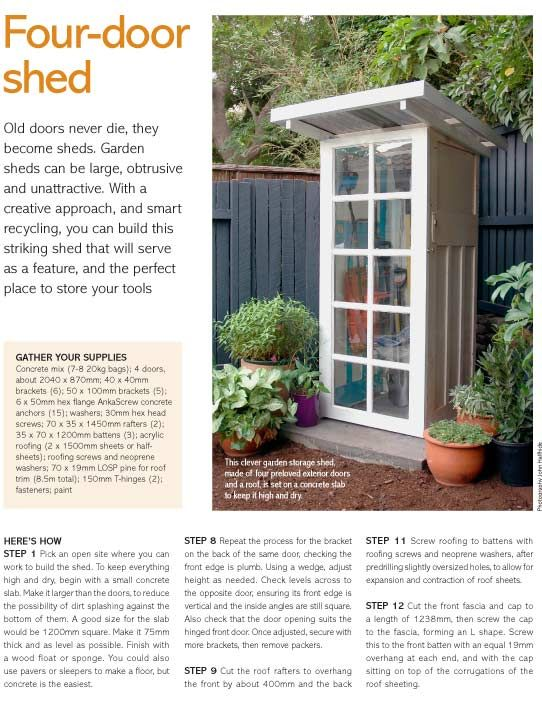 How To Turn 4 Doors Into A Garden Shed The New N Fymagthe New