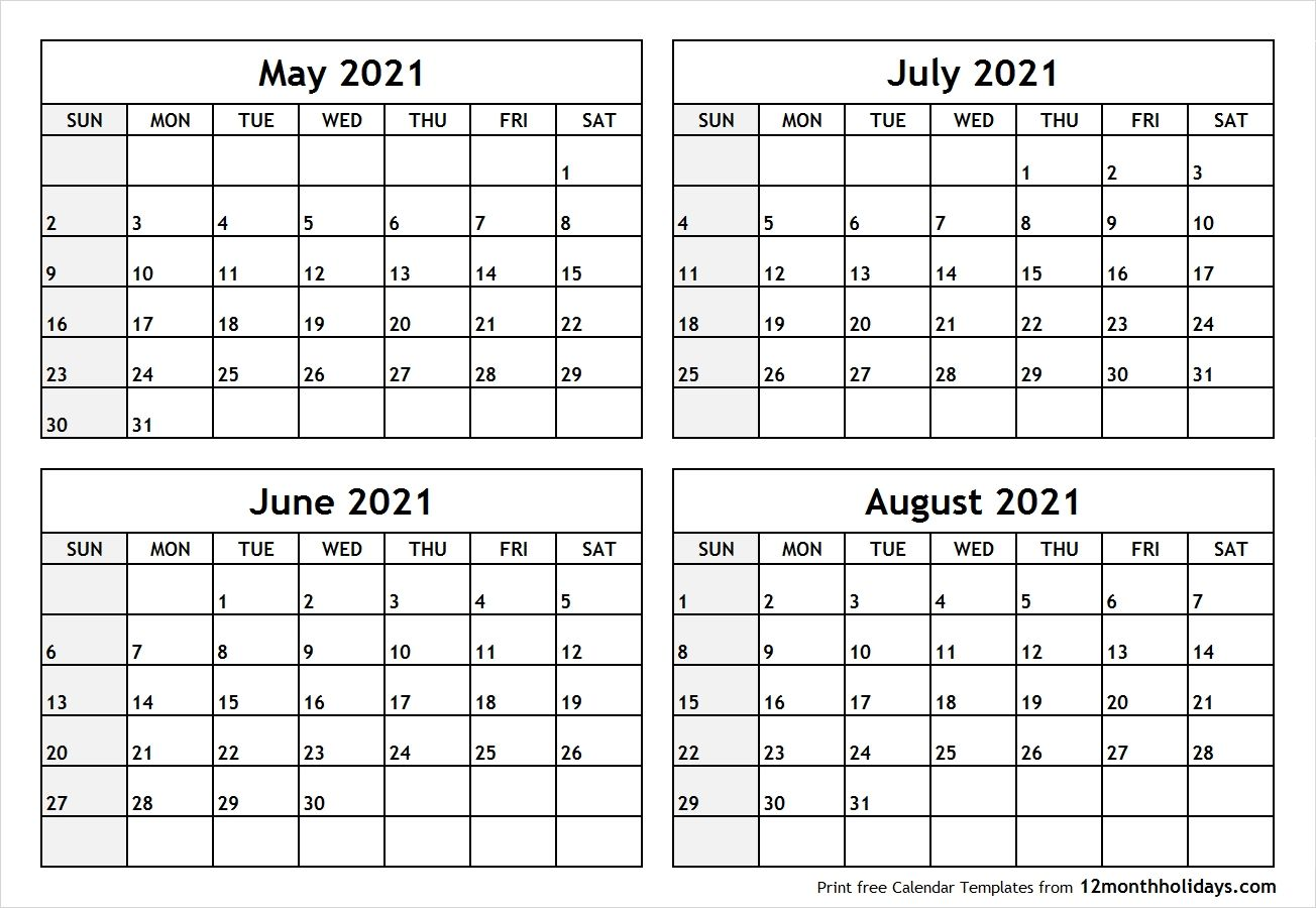 June July August 2021 Calendar In 2020 August Calendar September Calendar July Calendar