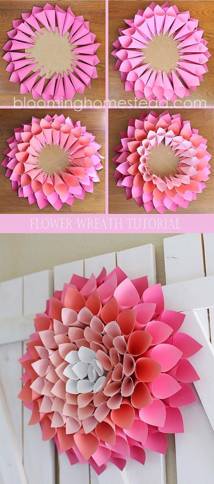 Diy Wall Flowers: Relasé: Interior Design DIY: Ghirlanda Di Petali In Carta