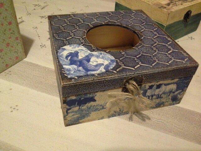 Caja - Servilletero...muestra para el taller del cole..
