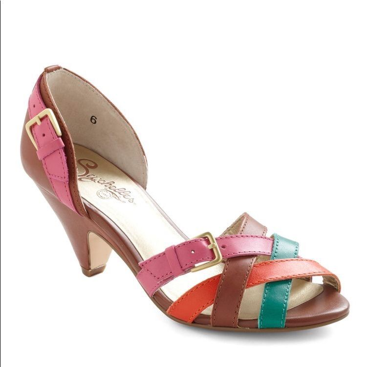 Seychelles Shoes Seychelles Multi Colored Kitten Heel
