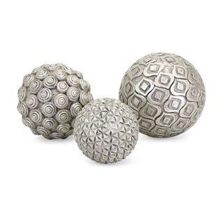 Silver Decorative Balls Imax Nahara Silver Balls Set Of 3 Accent Piece Glass