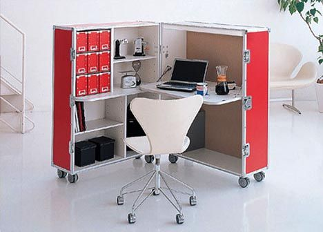 Mobile Modular Rolling Office Modern Home Office Furniture