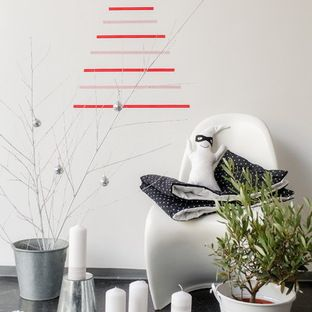Horizontal Washi tape Christmas 2D tree - from Houzz