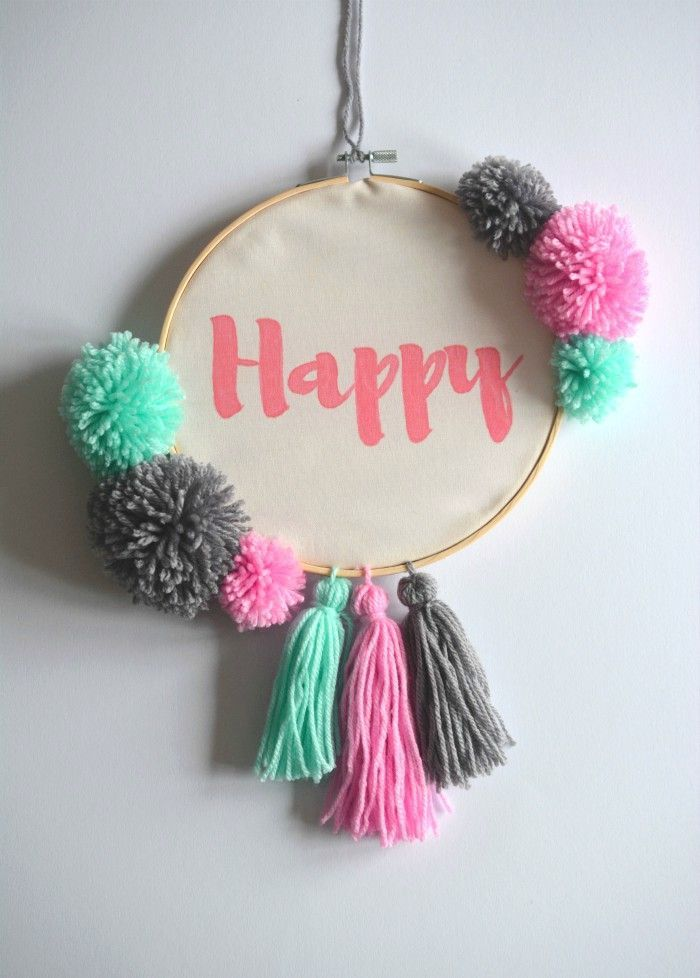 Do It Yourself Home Decorating Ideas: #diy Hoop Art, Wall Art, Wall Hanging, Do It Yourself