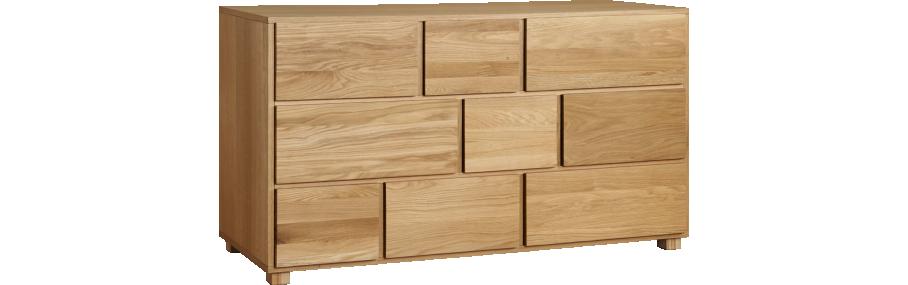 hana ii commode basse en ch ne massif chambre parent. Black Bedroom Furniture Sets. Home Design Ideas