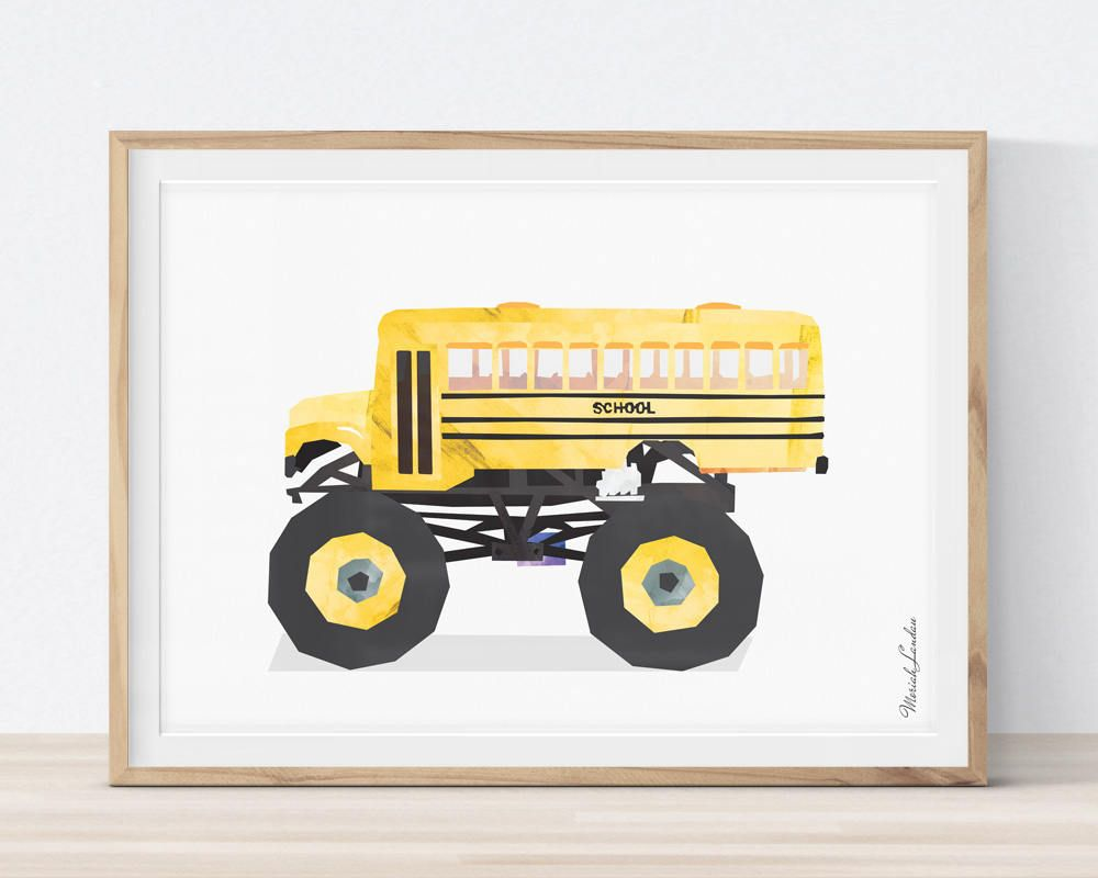 Fantastic Monster Truck Wall Art Collection - Art & Wall Decor ...